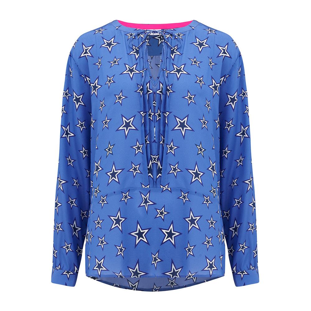 Fenton Silk Star Blouse - Bluebell