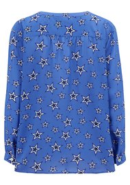 Mercy Delta Fenton Silk Star Blouse - Bluebell