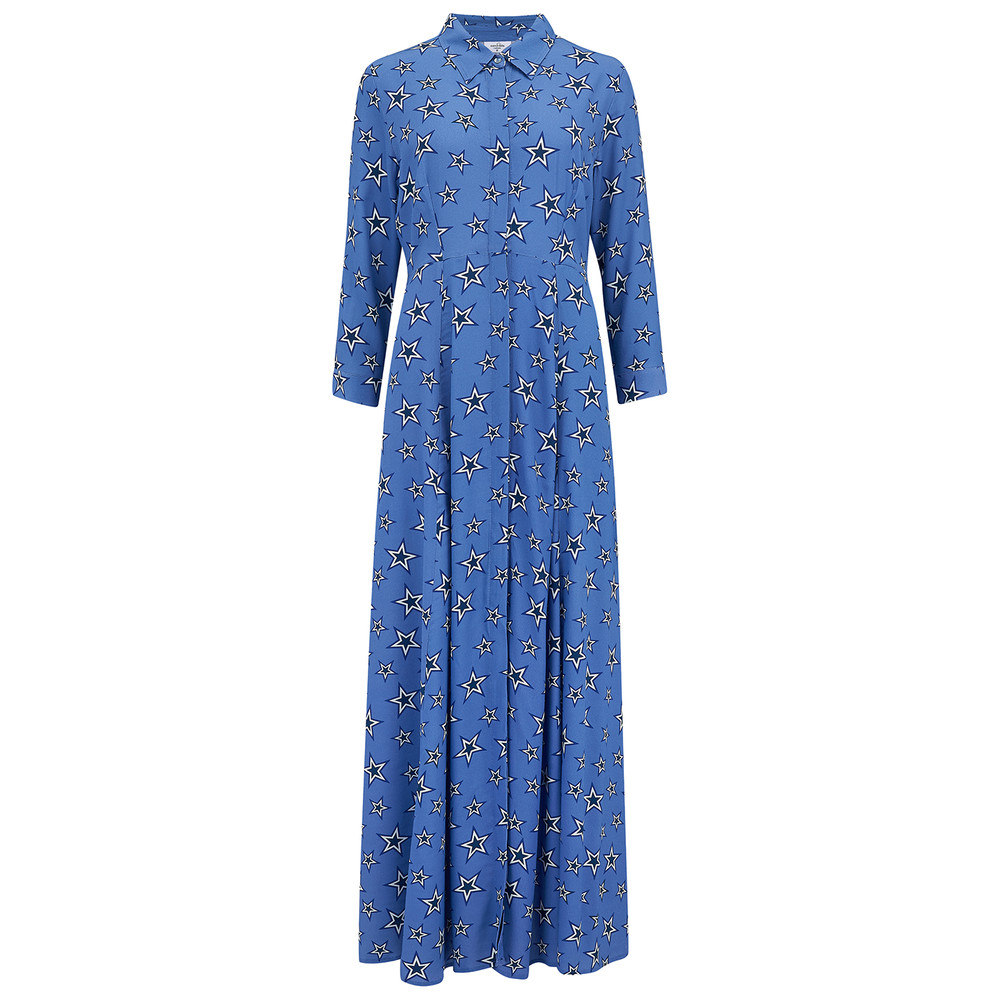 Rosedene Silk Star Dress - Bluebell