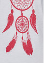 ON THE RISE Dreamcatcher Tee - White & Pink