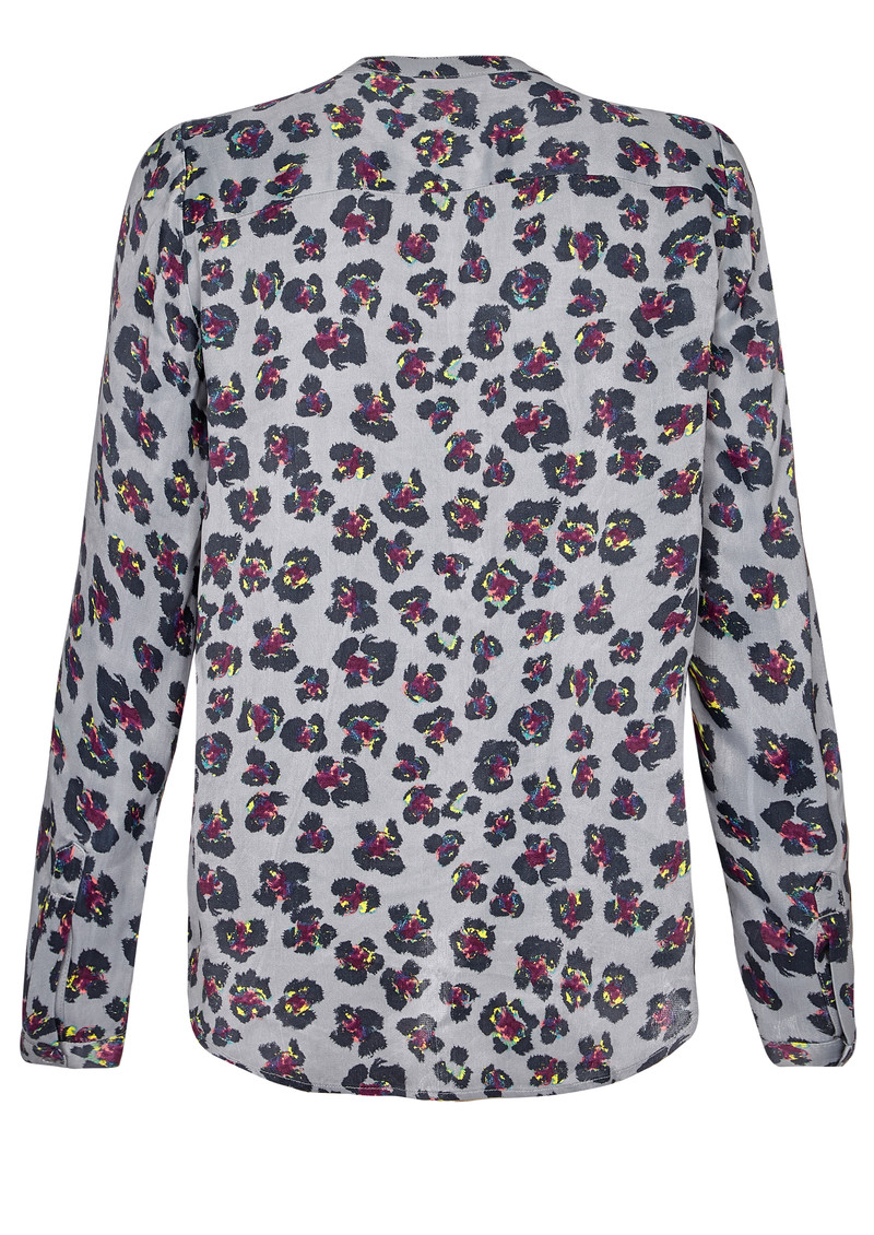 NOOKI Diana Blouse - Grey Leopard main image