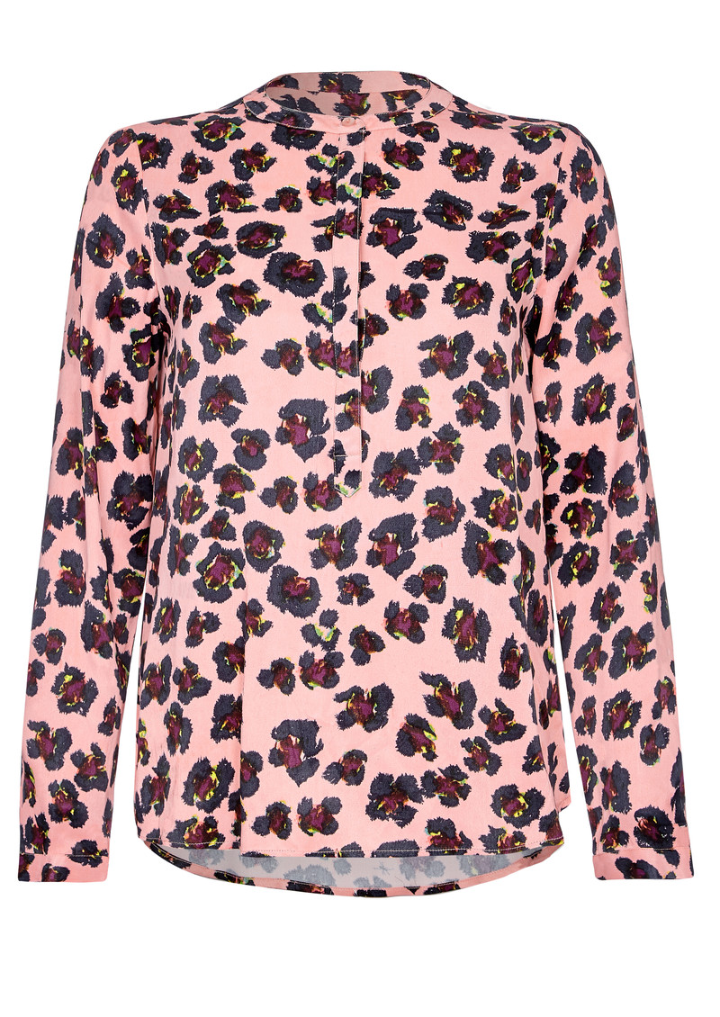 NOOKI Diana Blouse - Pink Leopard main image