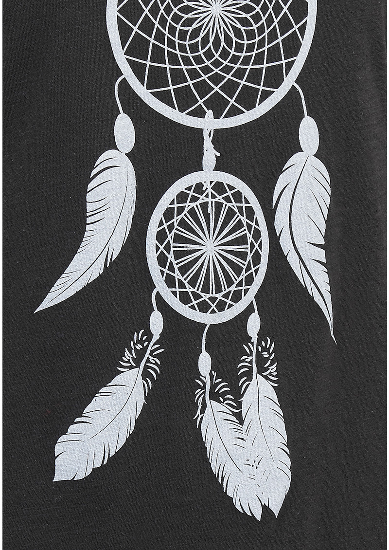 ON THE RISE Dreamcatcher Tee - Black & Silver main image