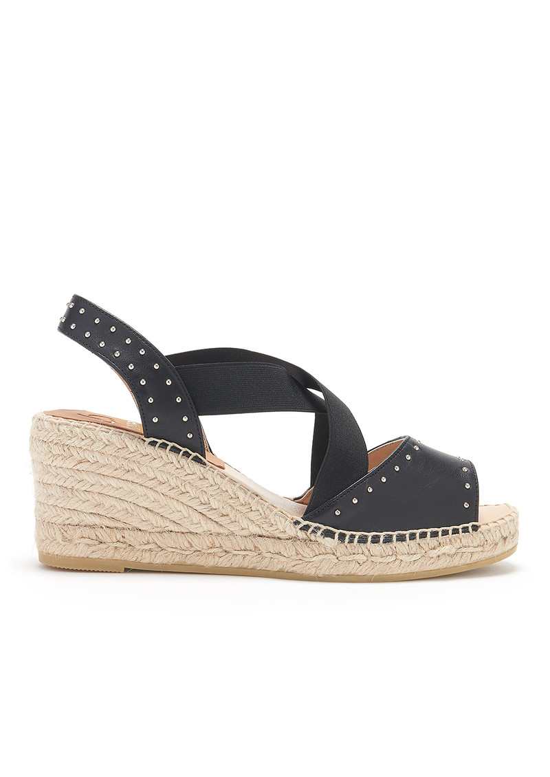 KANNA Ania Seta Wedge Sandal - Black main image