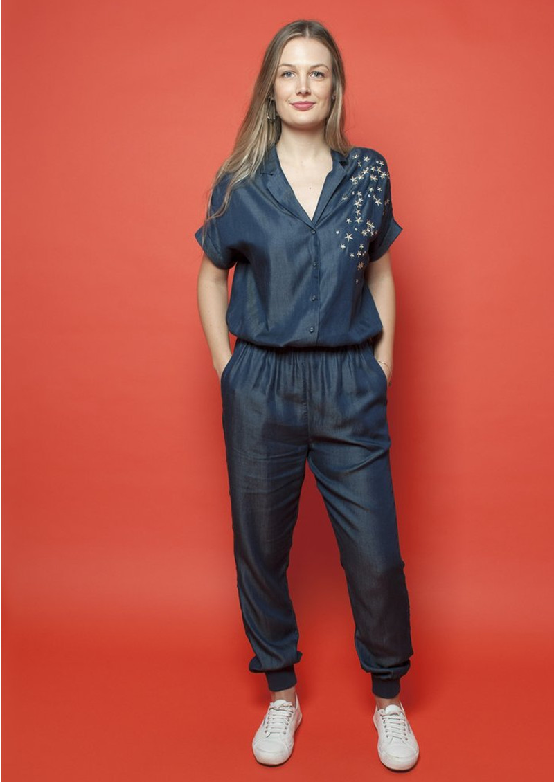 NOOKI Kimie Jumpsuit - Denim Star main image