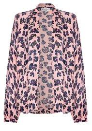 NOOKI Lauren Kimono - Pink Leopard