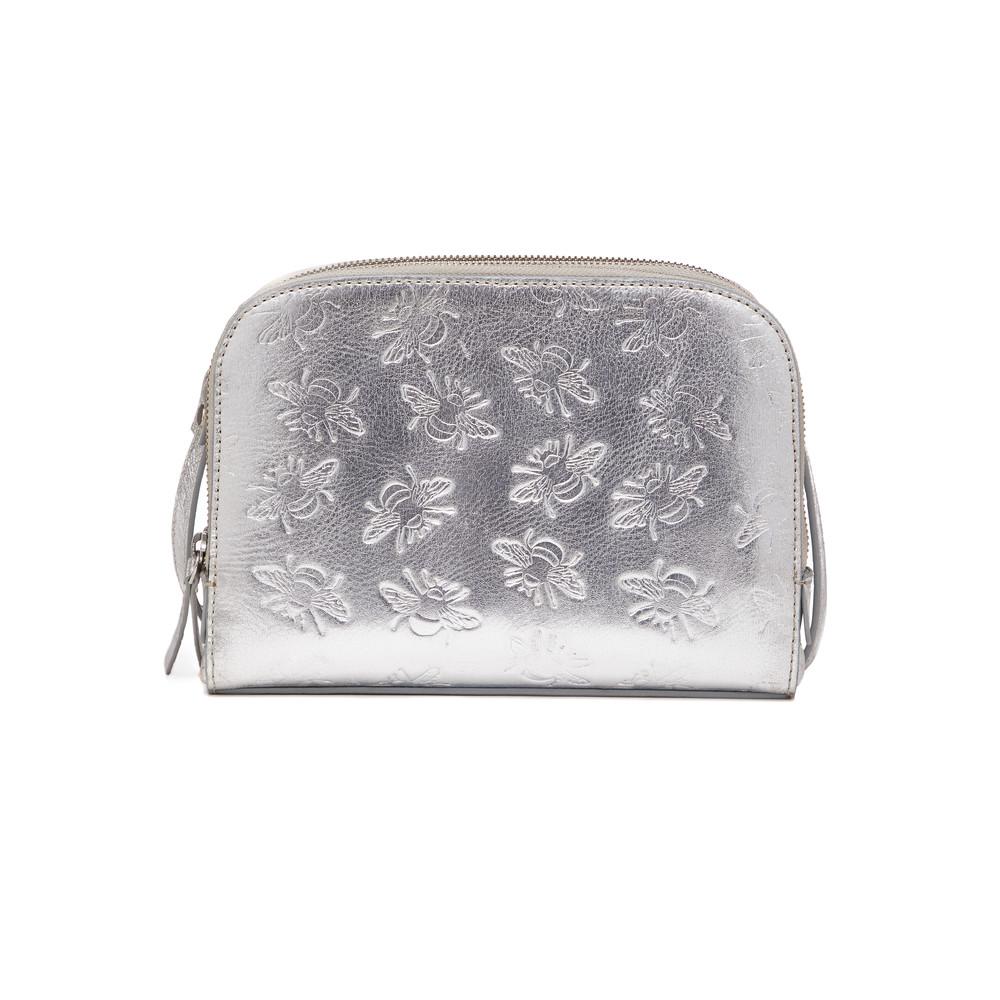 Sabina Embosses Bee X Body Bag - Silver