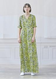 BAUM UND PFERDGARTEN Adelita Leopard Dress - Lemon Leo