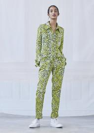 BAUM UND PFERDGARTEN Narethe Leopard Trousers - Lemon Leo