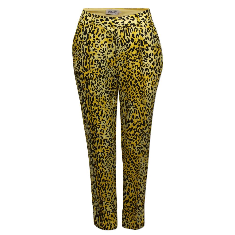 Narethe Leopard Trousers - Lemon Leo