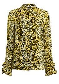 BAUM UND PFERDGARTEN Mildred Leopard Silk Shirt - Lemon Leo