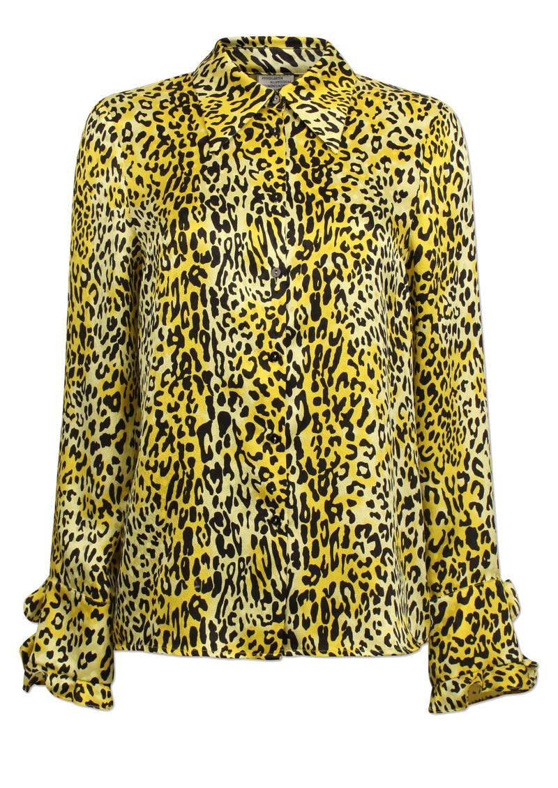 BAUM UND PFERDGARTEN Mildred Leopard Silk Shirt - Lemon Leo main image