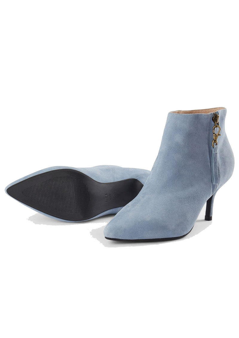 Agnete Gold Suede Ankle Boot - Blue main image