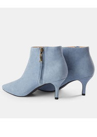 SHOE THE BEAR Agnete Gold Suede Ankle Boot - Blue