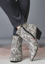SHOE THE BEAR Cleo Snake Ankle Boot - Mix