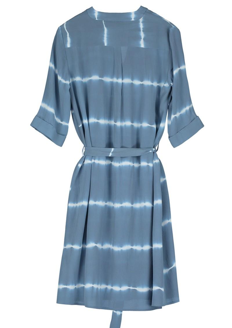 Pyrus Valetta Silk Dress - Tie Dye Blue main image