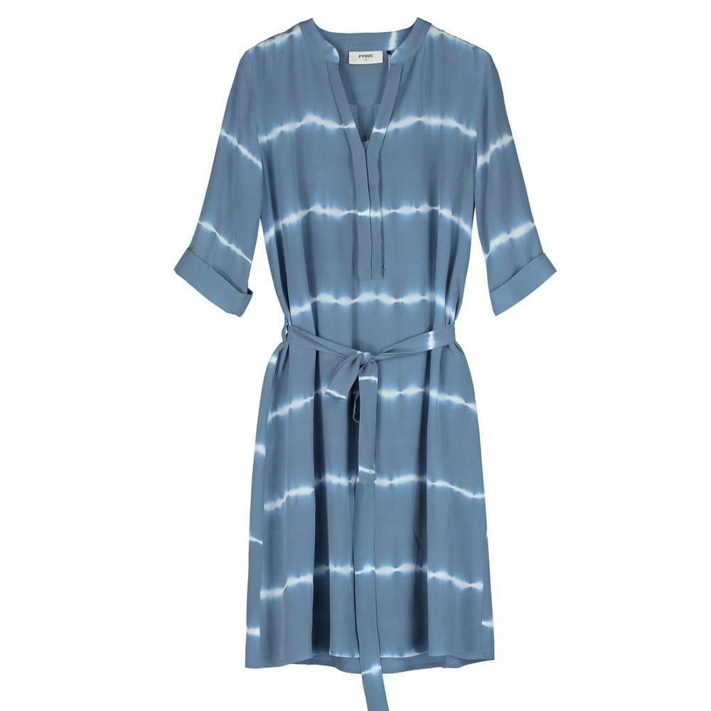 Valetta Silk Dress - Tie Dye Blue