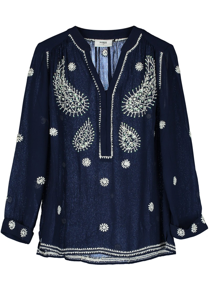 Pyrus Paola Embroidered Blouse - Navy main image