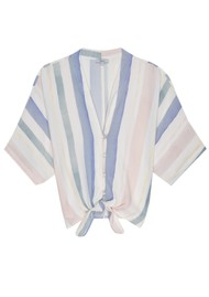 Rails Thea Top - Pastel Watercolour Stripe