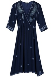 Pyrus Audrey Embroidered Dress - Navy