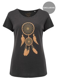 ON THE RISE Dreamcatcher Tee - Black & Gold