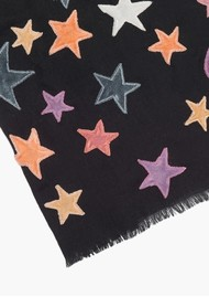 Lily and Lionel Bella Wool Blend Scarf - Black & Pastel