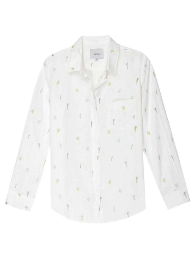 Rails Charli Shirt - White Cactus main image