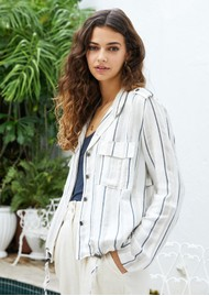 Rails Rowen Jacket - Coco Stripe