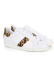 AIR & GRACE Copeland Leopard Trainer - White