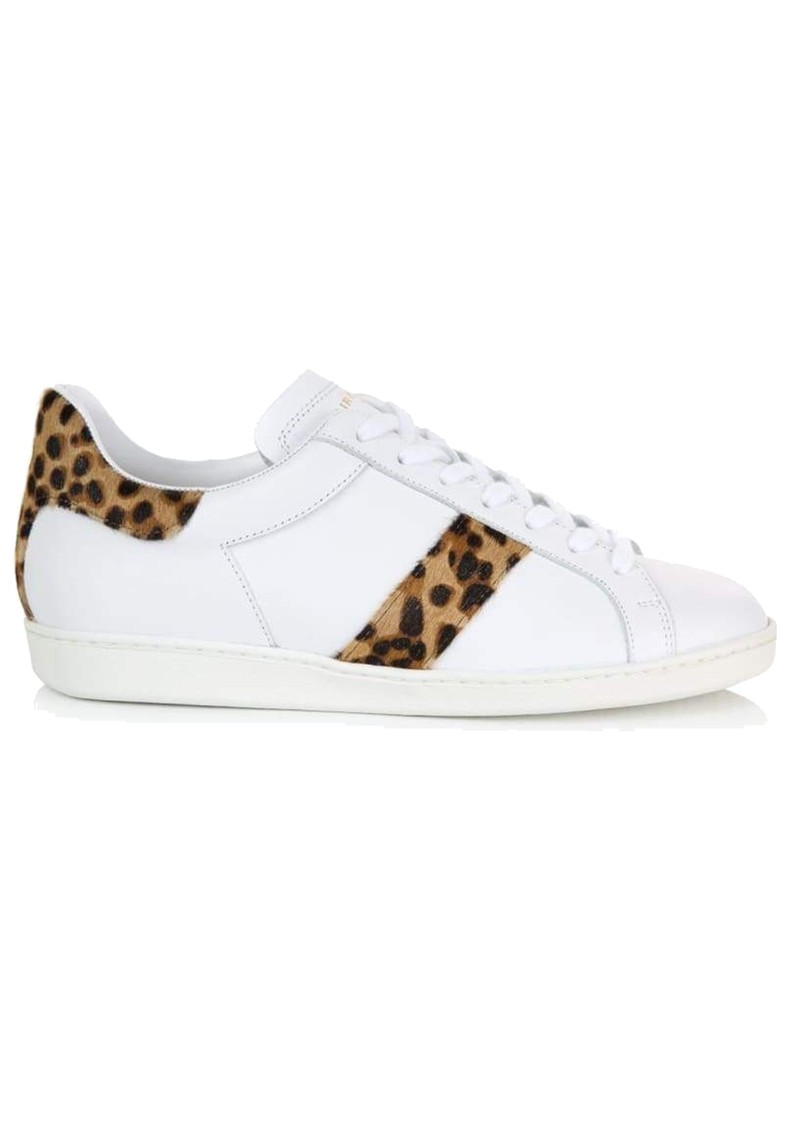 AIR & GRACE Copeland Leopard Trainer - White main image