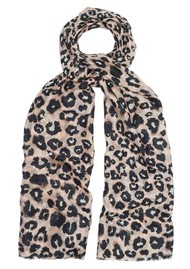 Lily and Lionel Isla Leopard Silk Scarf - Nude