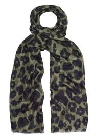 Lily and Lionel Isla Leopard Silk Scarf - Khaki