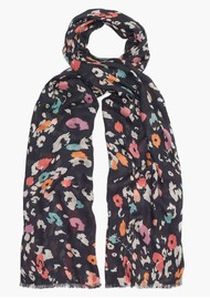 Lily and Lionel Dancing Leopard Scarf - Black