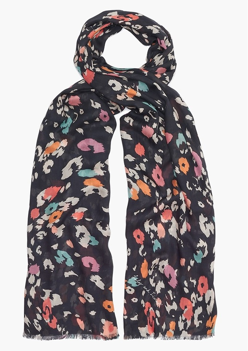 Lily and Lionel Dancing Leopard Scarf - Black main image