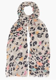 Lily and Lionel Dancing Leopard Scarf - Putty