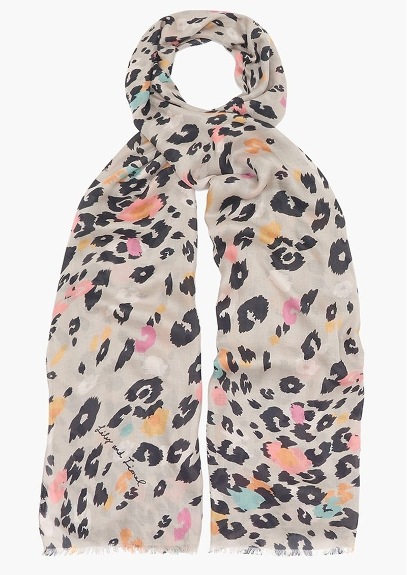 Lily and Lionel Dancing Leopard Scarf - Putty main image