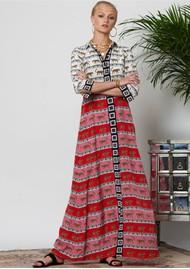 HAYLEY MENZIES Leopardess Long Shirt Dress - Pink & White