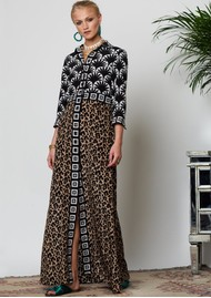 HAYLEY MENZIES Bettina Long Shirt Dress - Leopard