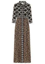 HAYLEY MENZIES Bettina Long Shirt Dress - Leopard
