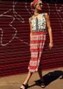 HAYLEY MENZIES  Leopardess Midi Sun Dress - Pink & White