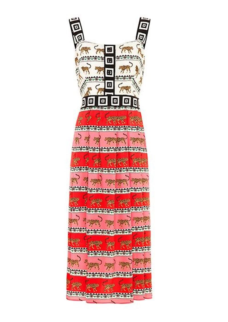 HAYLEY MENZIES  Leopardess Midi Sun Dress - Pink & White main image
