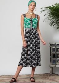 HAYLEY MENZIES Marrakesh Midi Sun Dress - Black & Green