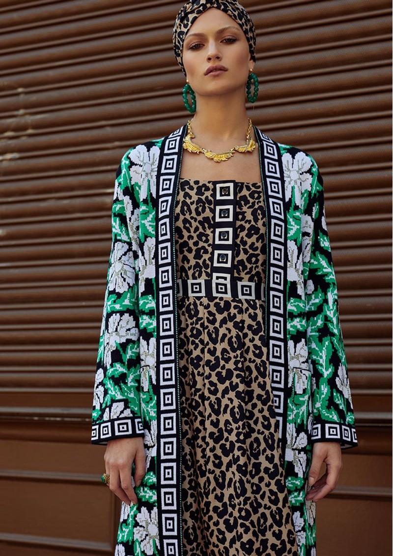 HAYLEY MENZIES Sahara Midi Sun Dress - Leopard main image
