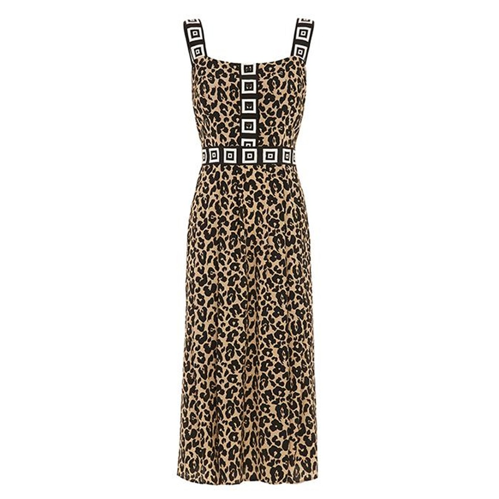 Sahara Midi Sun Dress - Leopard