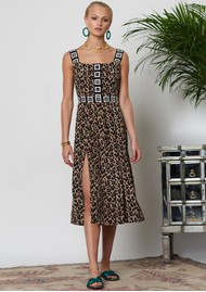 HAYLEY MENZIES Sahara Midi Sun Dress - Leopard