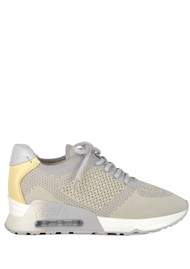 Ash Lucky Knit Trainers - Pearl & Yellow