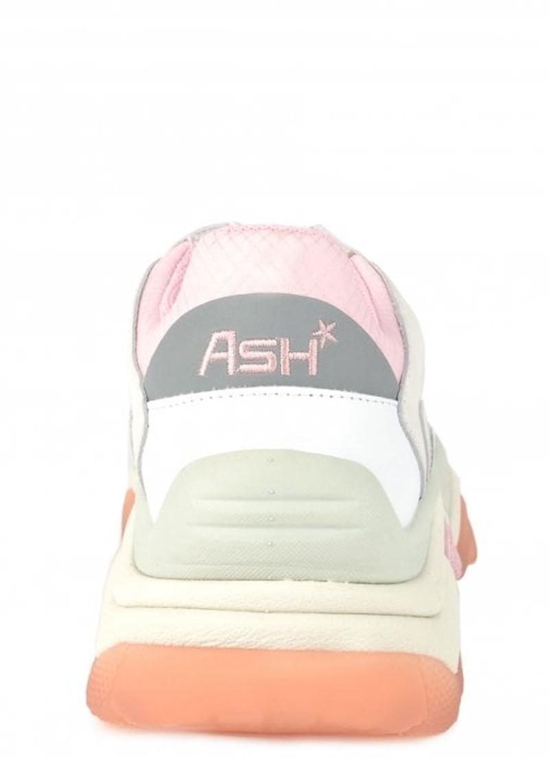 Ash Addict Nappa Mesh Trainers - White, Chalk & Pink main image