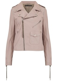 MDK Patti Stud Leather Jacket - Mushroom