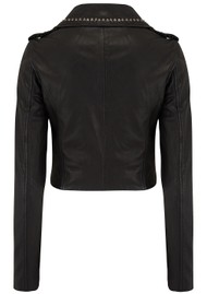 MDK Aia Studded Leather Jacket - Black