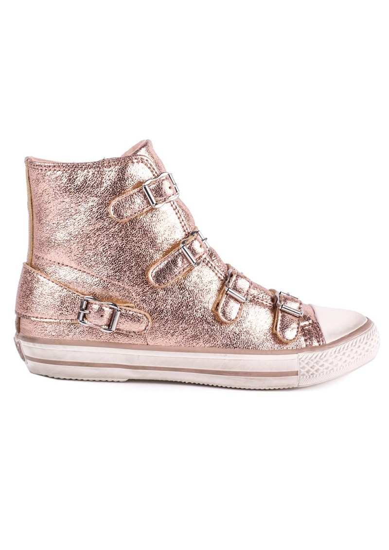 Ash Virgin Leather Buckle Trainers - Metallic Rame main image